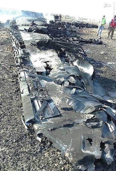 لاشه هواپیمای سقوط کرده روسی در مصر