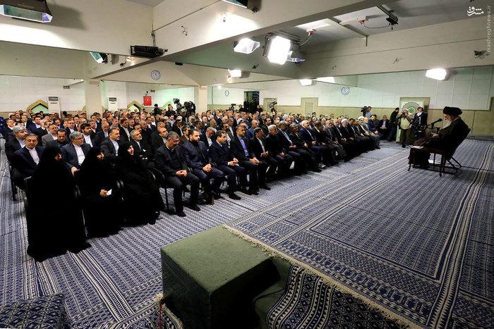 دیدار سفرای ایران و مسئولان وزارت خارجه با رهبر انقلاب