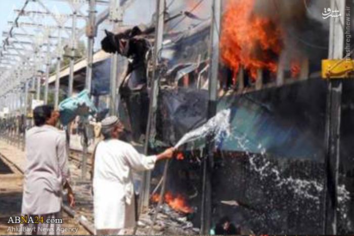 انفجار بمب در مسیر عبور قطار در پاکستان