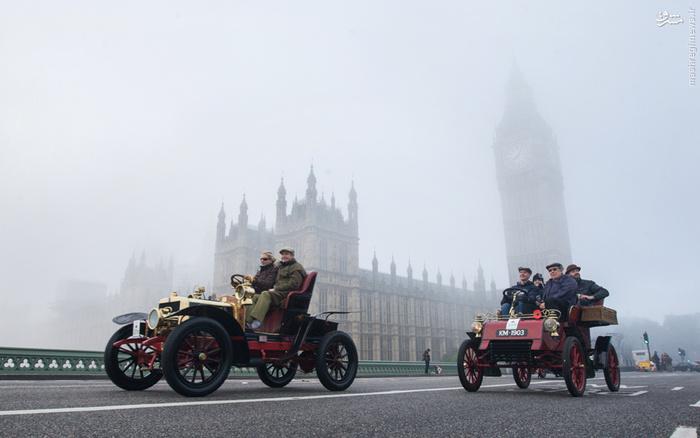 رالی خودروهای کلاسیک در لندن