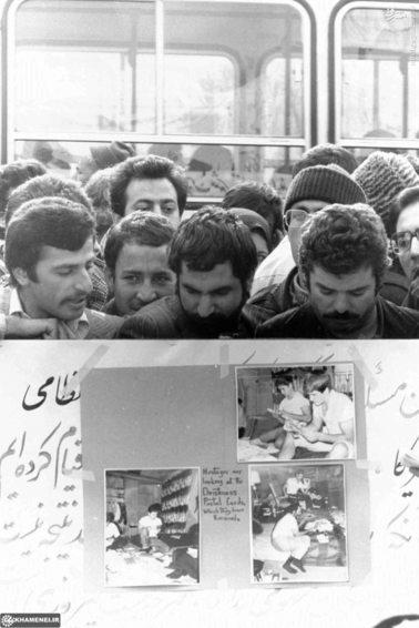 نمایشگاهی از تصاویر گروگانها در جلوی سفارت