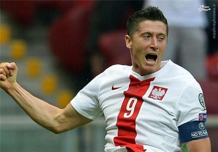 1- رابرت لواندوفسکی- گلزن بایرن مونیخ = لهستان