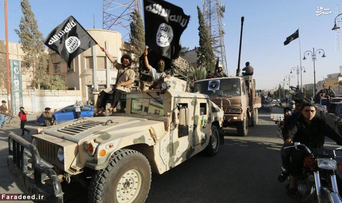 لحظه حرکت عناصر داعش در خیابانهای
