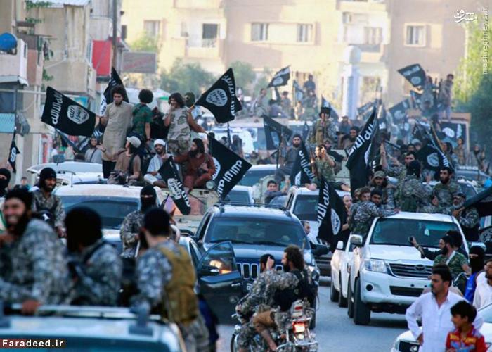 لحظه حرکت عناصر داعش در خیابانها