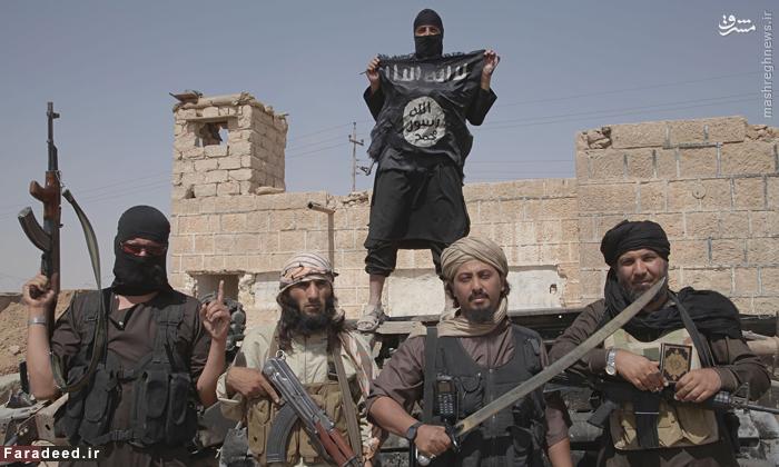 عناصر تروریستی داعش پس از تصرف