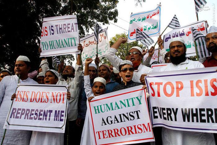 تظاهرات مردم هند علیه گروه تروریستی داعش