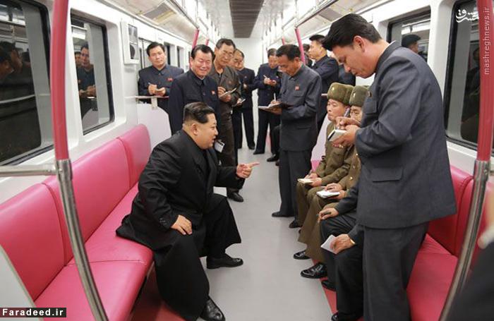 کیم جونگ اون در متروی مبله کره شمالی