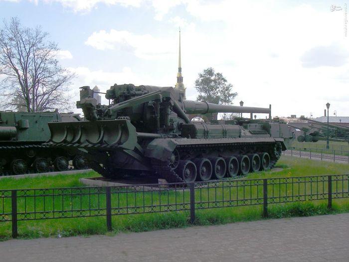 توپ متحرک 203 میلیمتری ساخت شوروی