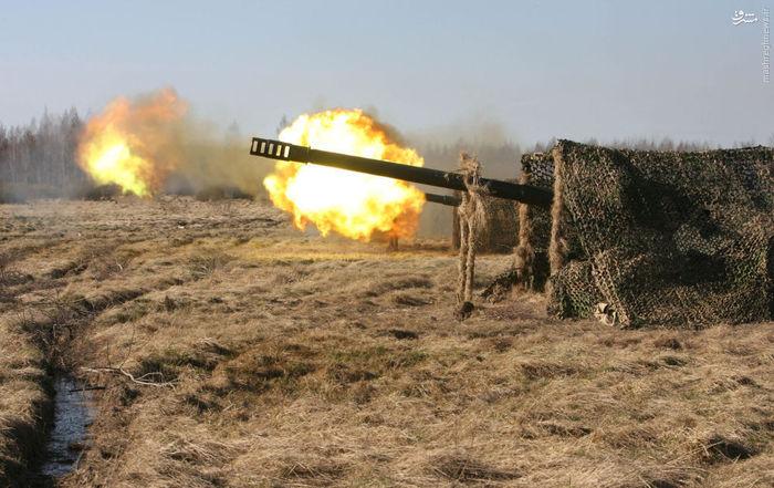 تیراندازی گردان توپ های 152 میلی متری