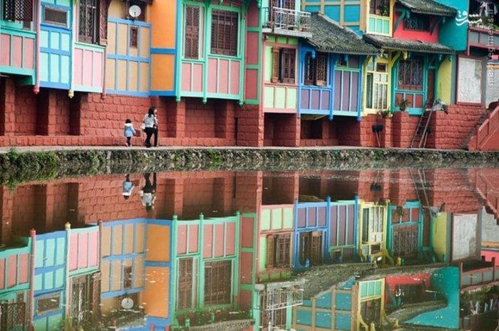 تصوصری از منظره شهر باستانی «داتونگ» که از مناطق توریستی چین به شمار میآید