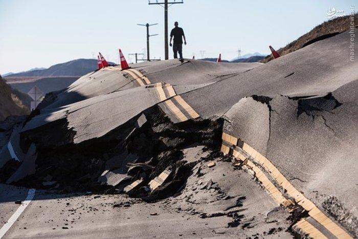 خسارات ناشی از لغزش زمین در کالیفرنیا آمریکا