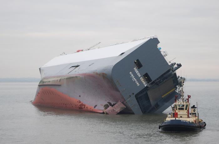 غرق شدن یک کشتی با ۲هزار تن سیمان در اسکاتلند