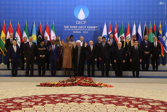 عکس یادگاری سران اجلاس صادر کننده گاز