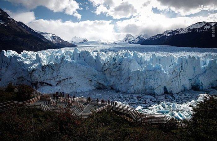 نمای هوایی از یخچال های طبیعی در آرژانتین