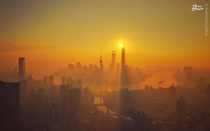آلودگی هوا شهر شانگهای چین