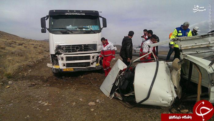 تصادف مرگبار در جاده بوئین و میاندشت
