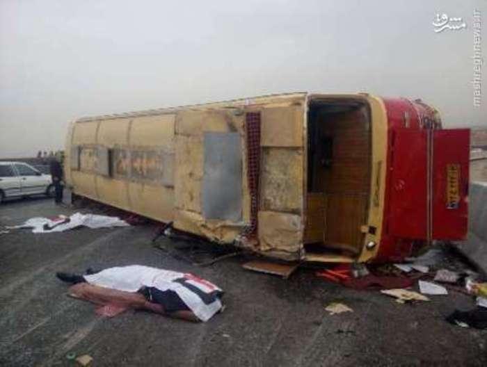 تصادف خونین اتوبوس دانشجویان در جاده اصفهان