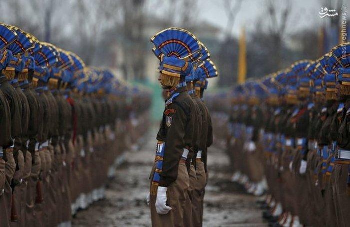 رژه پلیس مرکزی هند در «سرینگر»