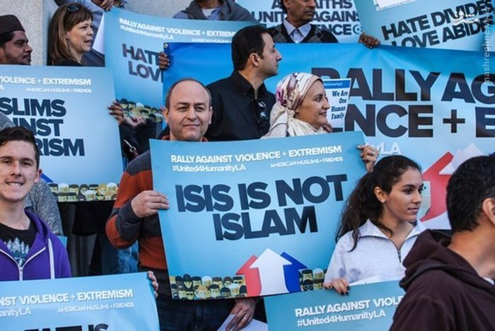 تجمع مسلمانان برای محکوم کردن خشونت، تروریسم و افراط گرایی در کالیفرنیا
