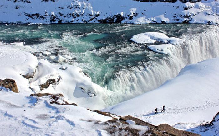 طبیعت زمستانی ایسلند در دمای منفی 30 درجه سانتیگراد