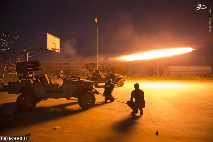 پرتاب خمپاره از مواضع شیعیان عراق به سوی عناصر داعش در استان