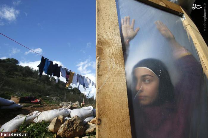 دختر پناهجوی سوری در جنوب بیروت. 8 ژانویه 2015
