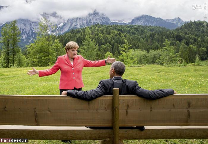 گفتگوهای مرکل و اوباما در آلمان. 8 ژوئن 2015