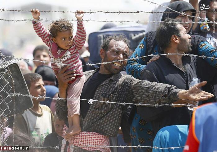آواره سوری پشت مرزهای ترکیه 15 ژوئن 2015