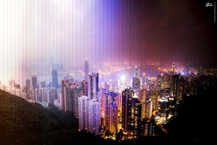 نمای دیگری از نشستن شب بر روز در هنگ کنگ