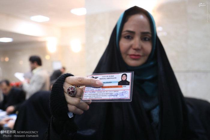 صدیقه ناجیزاده، خلبان و دانشجوی کارشناسیارشد برای شرکت در انتخابات مجلس ثبتنام کرد