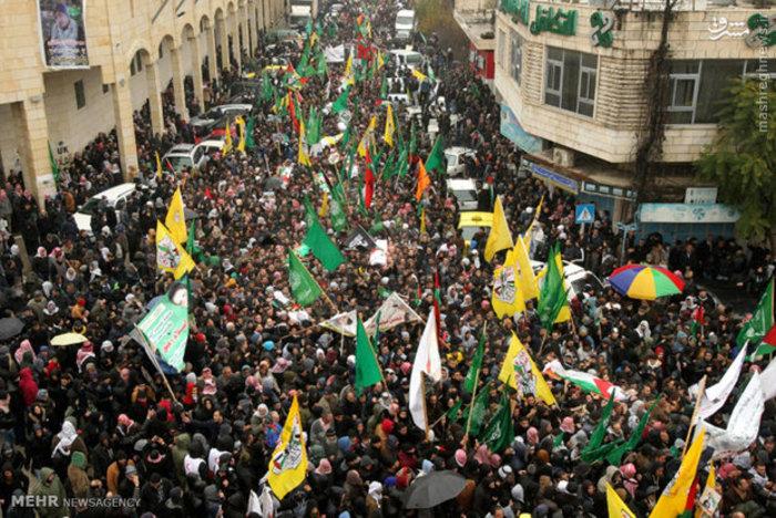 مراسم عزاداری ۱۴ تن از شهدای فلسطینی