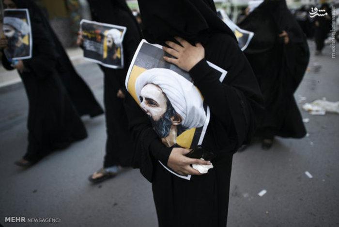 اعتراض مردم بحرین به شهادت شیخ نمر باقر النمر