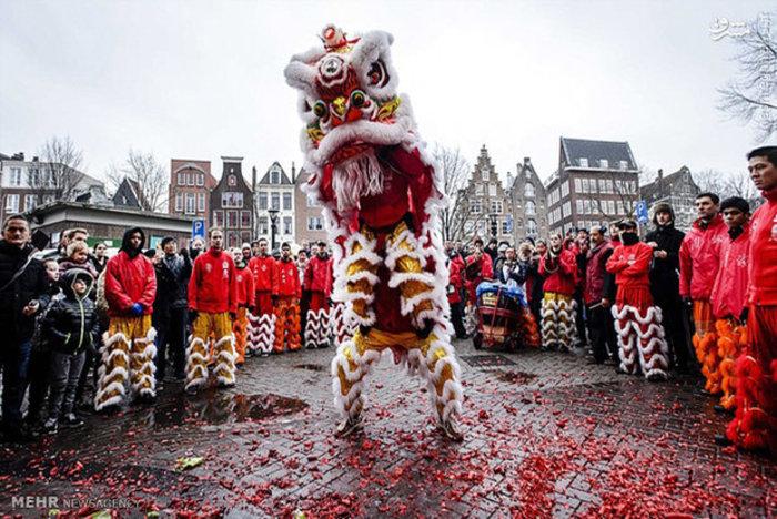 جشن سال نو در آمستردام هلند
