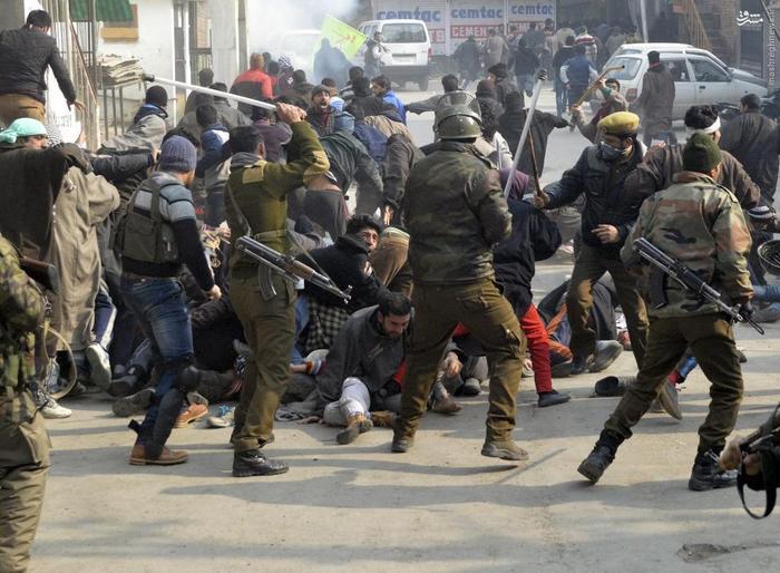 درگیری پلیس با معترضان اعدام شیخ نمر در