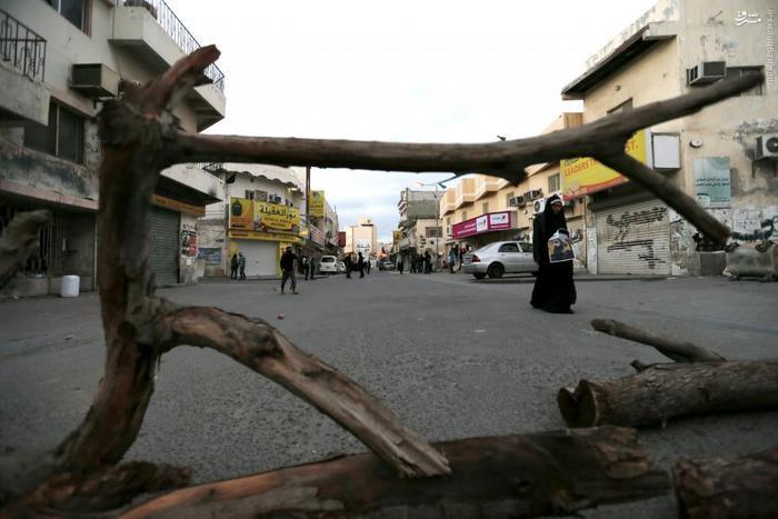 خیابان های منامه پس از راهپیمای اعتراضی شیعیان این کشور علیه اعدام شیخ نمر