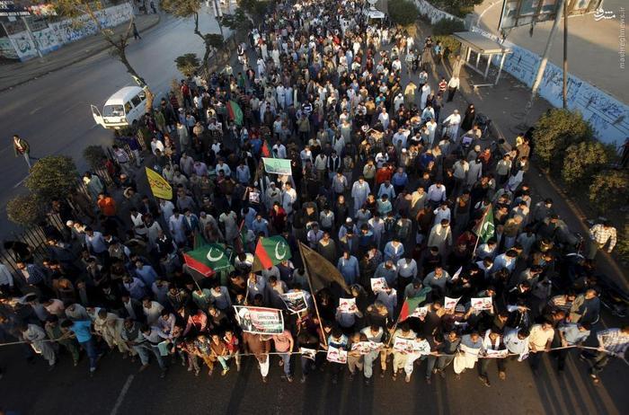 راهپیمایی معترضان اعدام شیخ نمر در