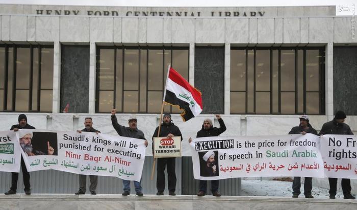 تجمع معترضان به اعدام شیخ باقرالنمر در
