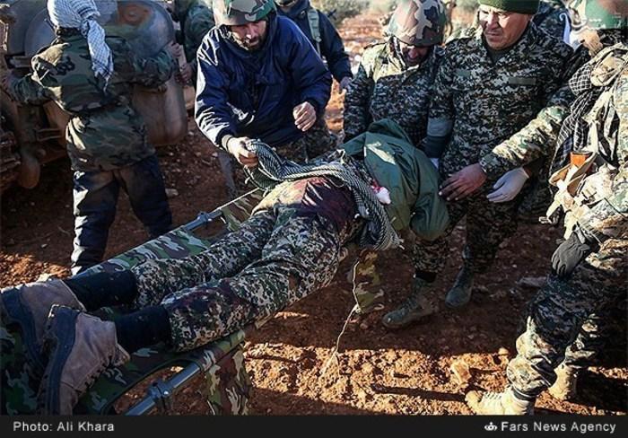 زخمی شدن یکی از رزمندگان مدافع حرم