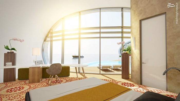 خانه های روی آب,هتل های روی آب,هتل های خلیج فارس,خانه های روی آب خلیج فارس