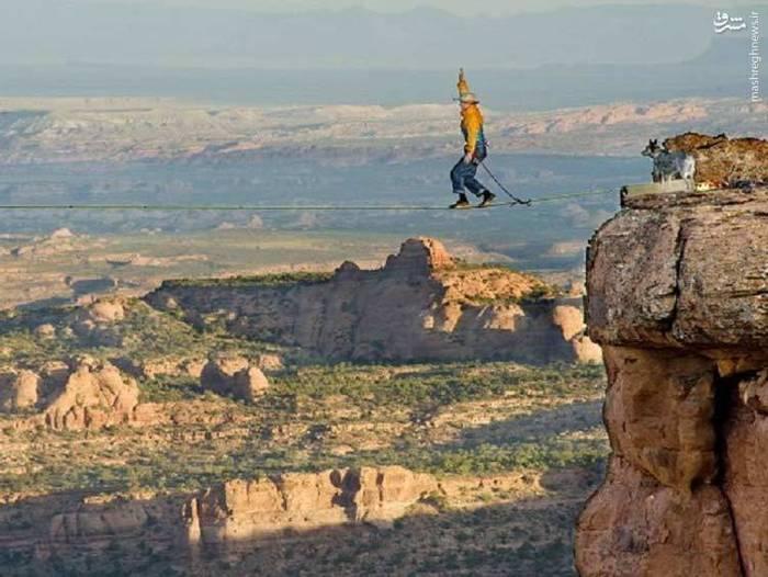 راه رفتن روی طناب در موآب، یوتا