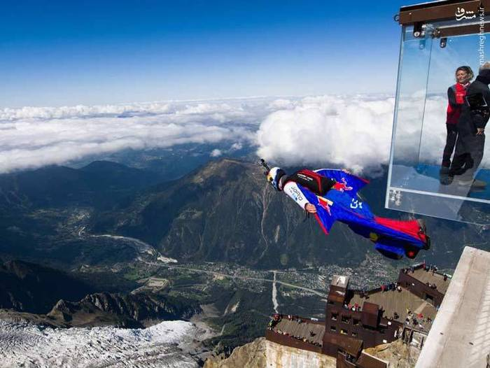 پرش از کوه بلان مون، فرانسه
