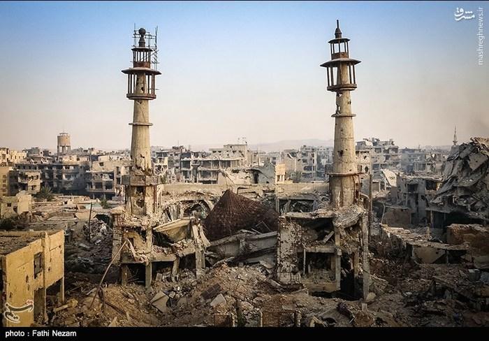 عکس/ شهر داریا پس از خروج تروریستها